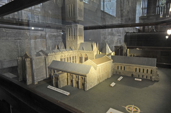 Model of the Abbey in Bolton Abbey.