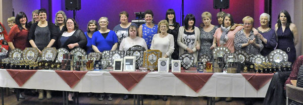 Anniversary photo of Kendal Ladies' Darts League.