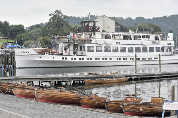 MV 'Swan' at the Pier in Bowness.